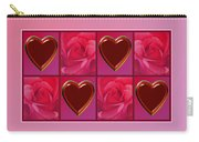 Chocolate Hearts And Roses Carry-all Pouch