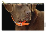 Chocolate Lab Carry-all Pouch by William Jobes