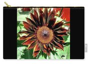 Chocolate Sunflower Carry-all Pouch