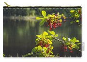 Chokecherries With River Bokeh Carry-all Pouch