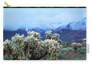 Cholla Cactus And Superstition Mountains Carry-all Pouch