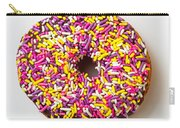 Cholocate Donut With Sprinkles Carry-all Pouch by Garry Gay