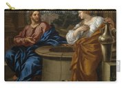 Christ And The Woman Of Samaria Carry-all Pouch