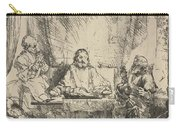 Christ At Emmaus: The Larger Plate Carry-all Pouch