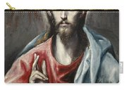 Christ Blessing, The Saviour Of The World Carry-all Pouch