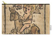 Christ Child On Donkey Carry-all Pouch