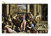 Christ Driving The Traders From The Temple 1576 Carry-all Pouch