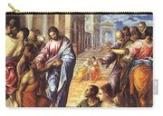 Christ Healing The Blind 1578 Carry-all Pouch