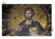 Christ Holds Bible In Mosaic At Chora Church Istanbul Turkey Carry-all Pouch