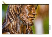 Christ In Bronze Carry-all Pouch by Christopher Holmes