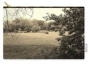 Christ In The Field Sepia Carry-all Pouch