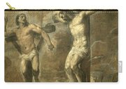 Christ On The Cross And The Good Thief Carry-all Pouch