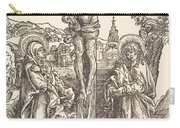 Christ On The Cross Between The Virgin And Saint John Carry-all Pouch