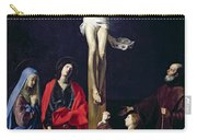 Christ On The Cross With The Virgin Mary Magdalene St John And St Francis Of Paola Carry-all Pouch by Nicolas Tournier