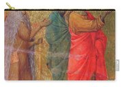 Christ On The Road To Emmaus Fragment 1311 Carry-all Pouch