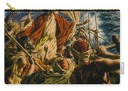 Christ On The Sea Of Galilee Carry-all Pouch by Jack Hayes