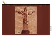 Christ The Redeemer Statue Original Coffee Painting Carry-all Pouch