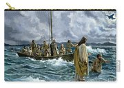 Christ Walking On The Sea Of Galilee Carry-all Pouch