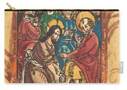 Christ Washing The Feet Of The Apostles Carry-all Pouch