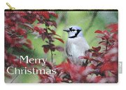 Christmas And Blue Jay Carry-all Pouch