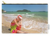 Christmas At Tropics Carry-all Pouch by Benny Marty