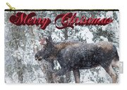 Christmas Bull Moose Carry-all Pouch