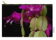 Christmas Cactus Purple Flower Blooms Carry-all Pouch