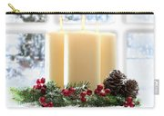 Christmas Candles Display Carry-all Pouch by Amanda Elwell