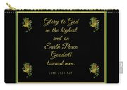Christmas Card With Scripture - Luke 2 14 Carry-all Pouch