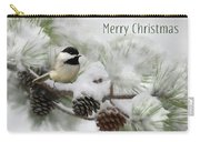 Christmas Chickadee Carry-all Pouch