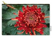 Christmas Chrysanthemum Carry-all Pouch