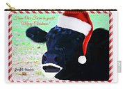 Christmas Cow Greeting Carry-all Pouch