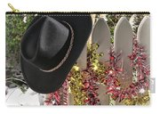 Christmas Cowboy Hat On Fence - Merry Christmas  Carry-all Pouch
