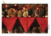 Christmas Decorations Of Garlands And Pine Cones Carry-all Pouch