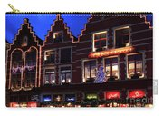 Christmas Decorations On Buildings In Bruges City Carry-all Pouch