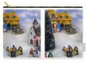 Christmas Display - Gently Cross Your Eyes And Focus On The Middle Image Carry-all Pouch