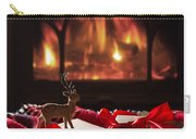 Christmas Gifts By The Fireplace Carry-all Pouch