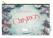 Christmas Greeting Card, By Imagineisle Carry-all Pouch