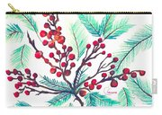 Christmas Holly Carry-all Pouch