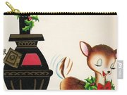 Christmas Illustration 1217 - Vintage Christmas Cards - Reindeer Carry-all Pouch