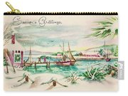 Christmas Illustration 1220 - Vintage Christmas Cards - Landscape Painting Carry-all Pouch