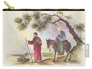 Christmas Illustration 1221 - Vintage Christmas Cards - Mother Mary With Infant Jesus Carry-all Pouch
