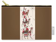 Christmas Illustration 1234 - Vintage Christmas Cards - Three Kings On Camel Carry-all Pouch