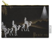 Christmas Illustration 1238 - Vintage Christmas Cards - Three Kings On Camel Carry-all Pouch