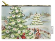 Christmas Illustration 15 - Winter Ladscape During Christmas Time Carry-all Pouch