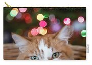 Christmas Kitty In A Basket Carry-all Pouch
