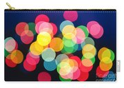 Christmas Lights Abstract Carry-all Pouch by Elena Elisseeva