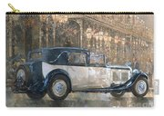 Christmas Lights And 8 Litre Bentley Carry-all Pouch by Peter Miller