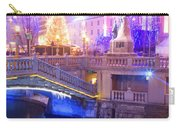Christmas Lights In Preseren Square In Ljubljana Carry-all Pouch