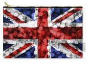 Christmas Lights Uk Flag Carry-all Pouch